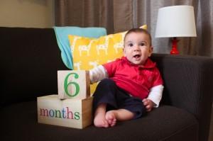 6 months old raffi