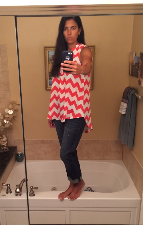 stitch fix chevron blouse