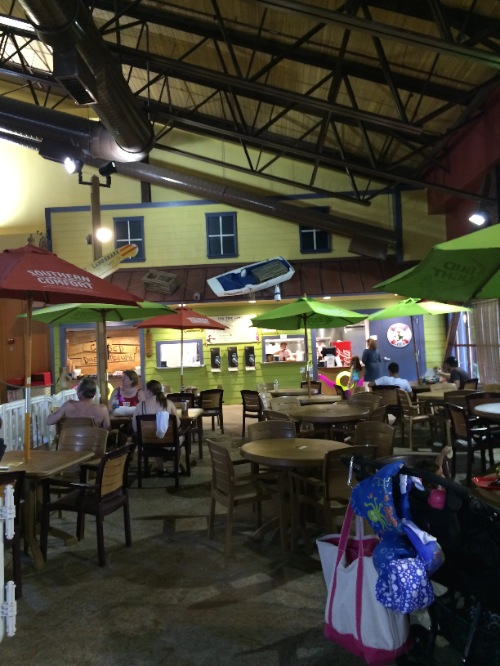 food area at kahuna laguna