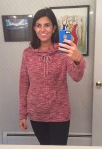 Evie Draw String Funnel Neck Sweatshirt