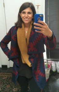 Look by M | Jet Ribbed Infinity Scarf in mustard