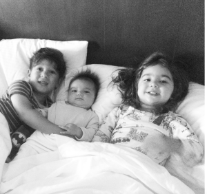 3 kids one bed
