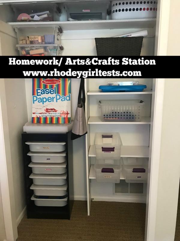 homework arts and crafts station